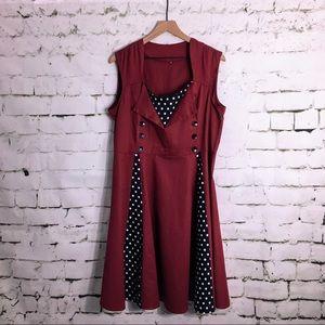 Rockabilly Pinup Retro Plus Size Dress